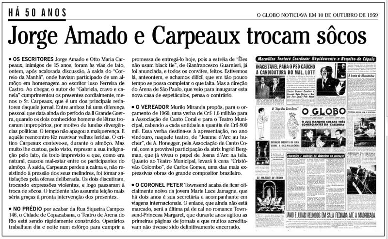 Jorge Amado e Carpeaux